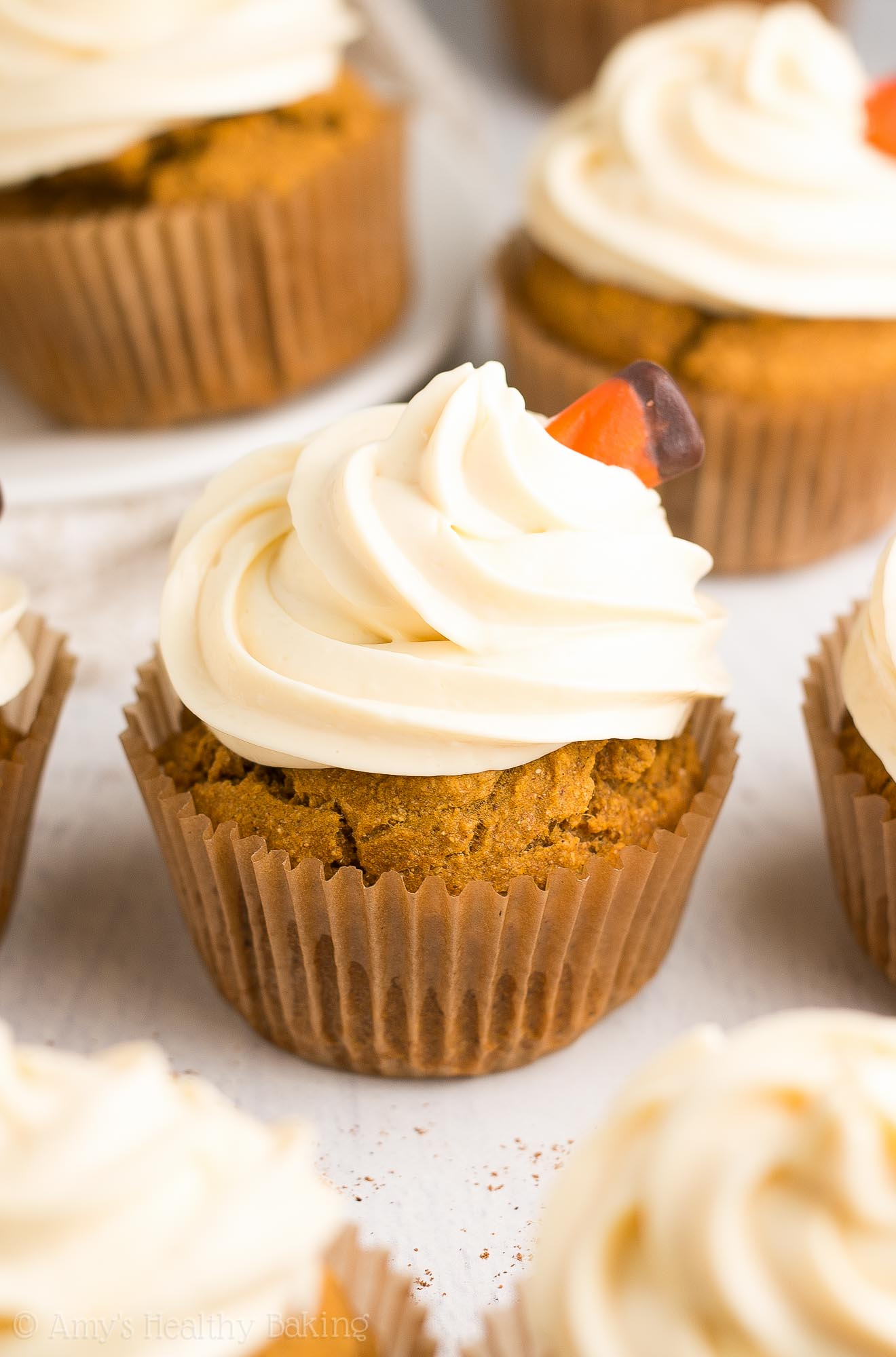 Pumpkin Cupcakes Only 123 Calories Including The Sweet Cream