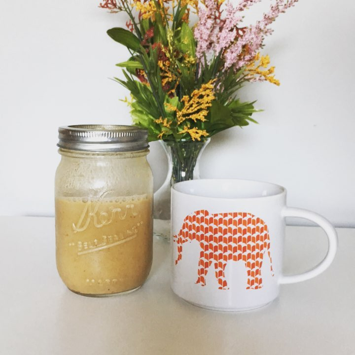healthy pumpkin spice coffee creamer by @caitlynbednarek