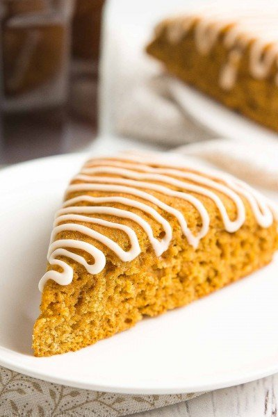 Healthy Pumpkin Spice Latte Scones