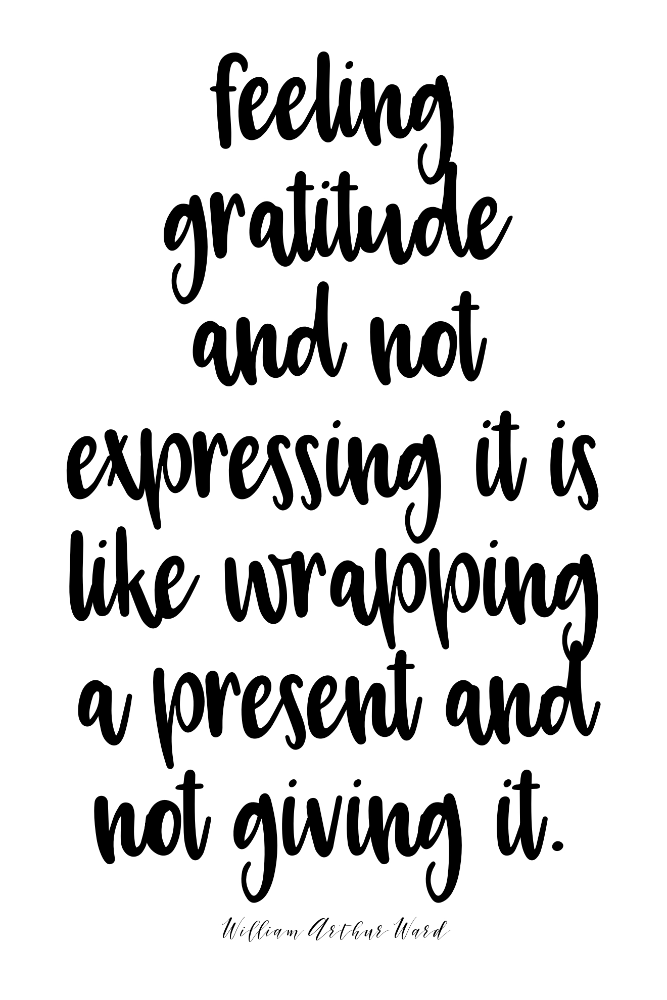 Feeling gratitude and not expressing it is like wrapping a present and not giving it. -William Arthur Ward | @amybakeshealthy