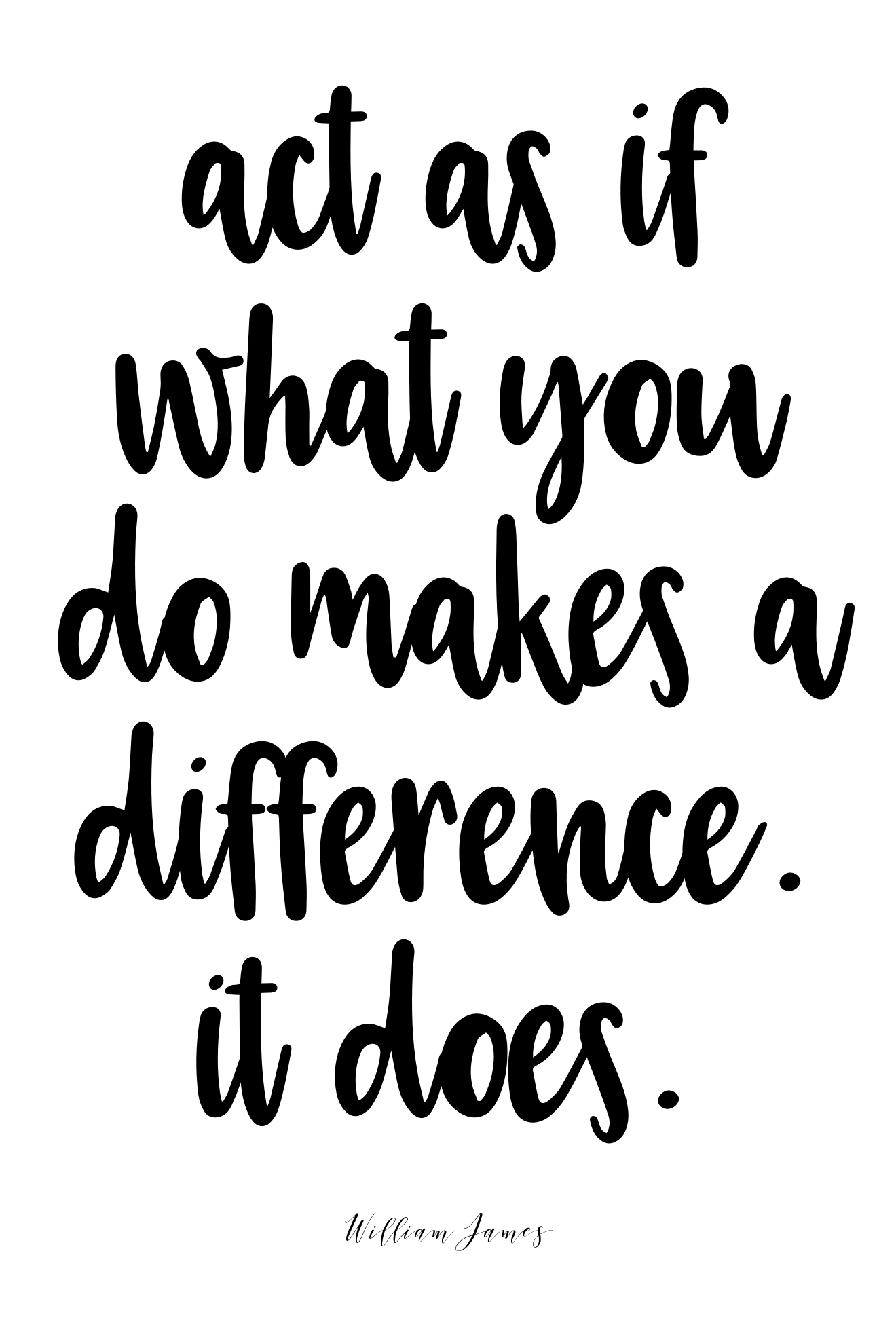 Act as if what you do makes a difference. It does. | @amybakeshealthy