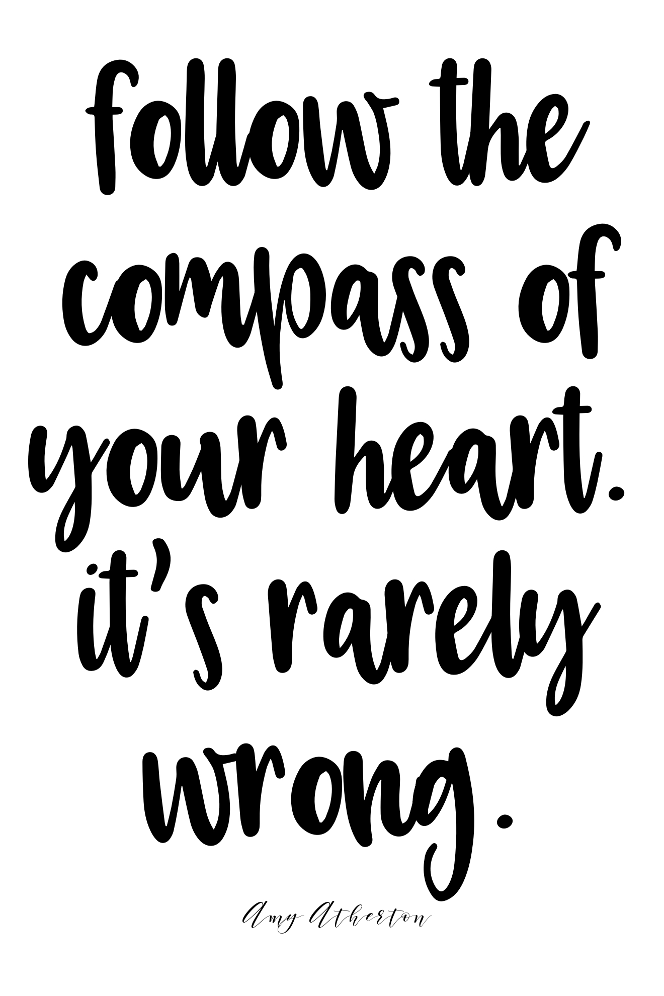 Follow the compass of your heart. It's rarely wrong. @amybakeshealthy