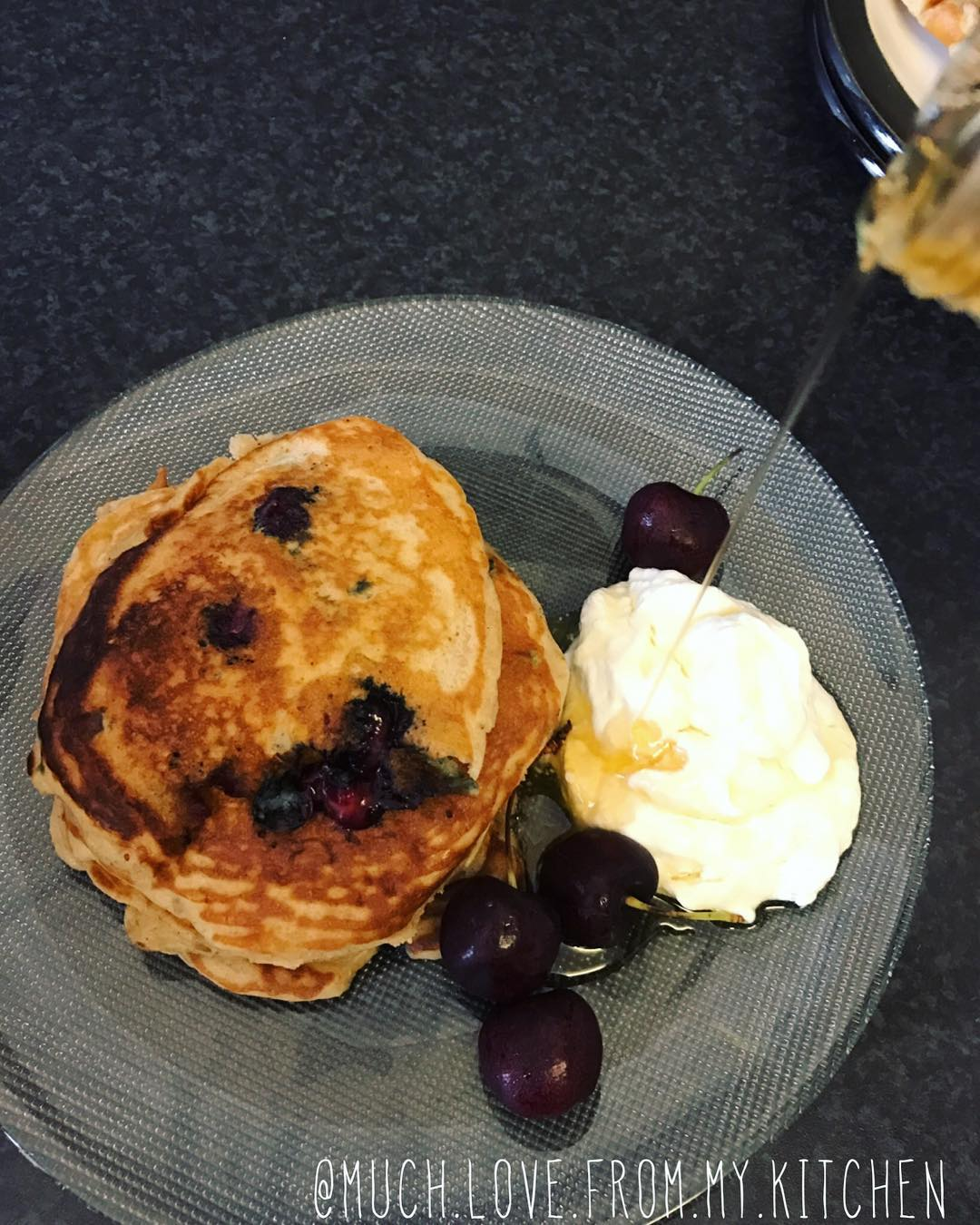 the ultimate healthy blueberry buttermilk pancakes by @much.love.from.my.kitchen