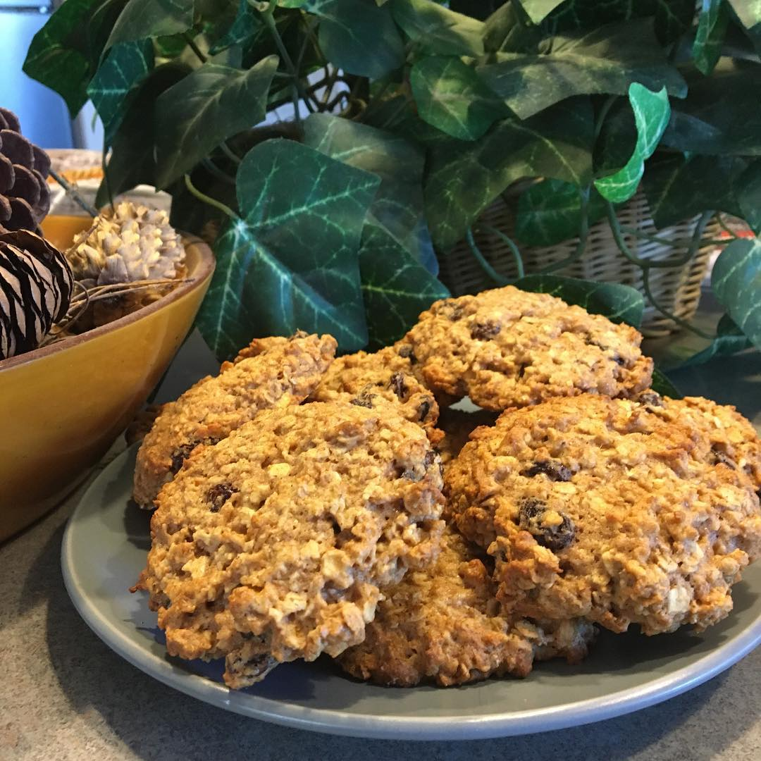 the ultimate healthy soft & chewy oatmeal raisin cookies by @lynn_lot95designs