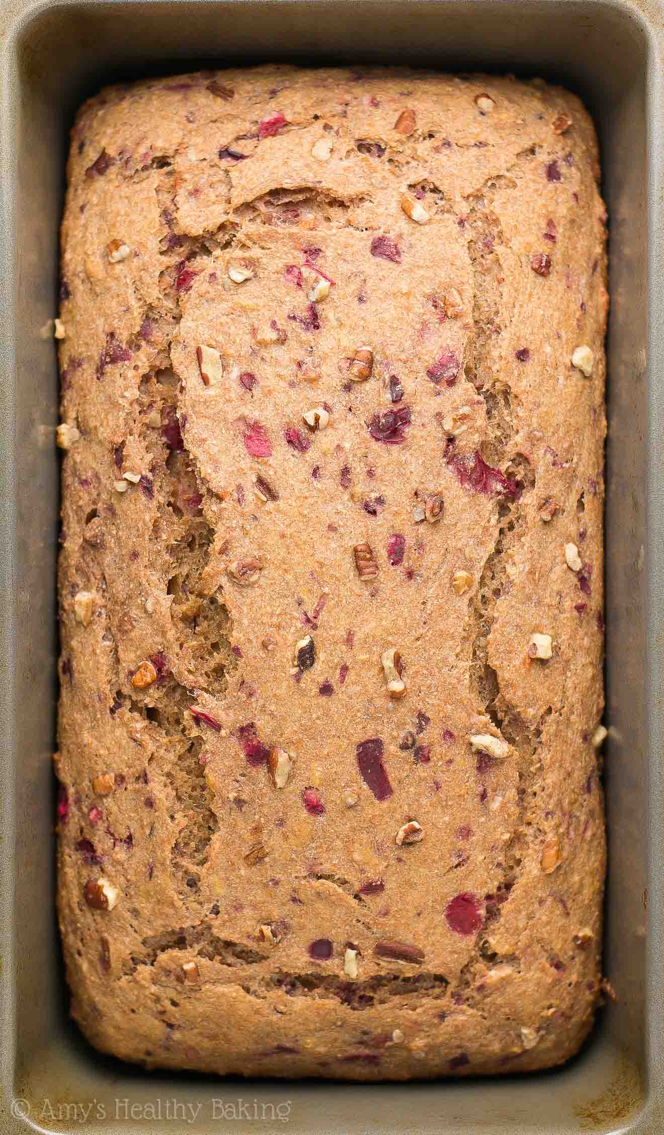 Electric Mixer Making Banana Bread ~ Healthy cranberry pecan banana bread amy s baking