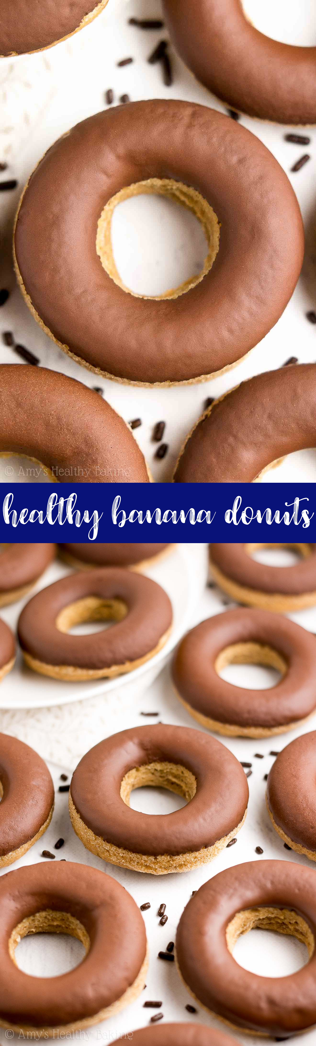 Healthy Banana Donuts With Chocolate Glaze Amy S Healthy