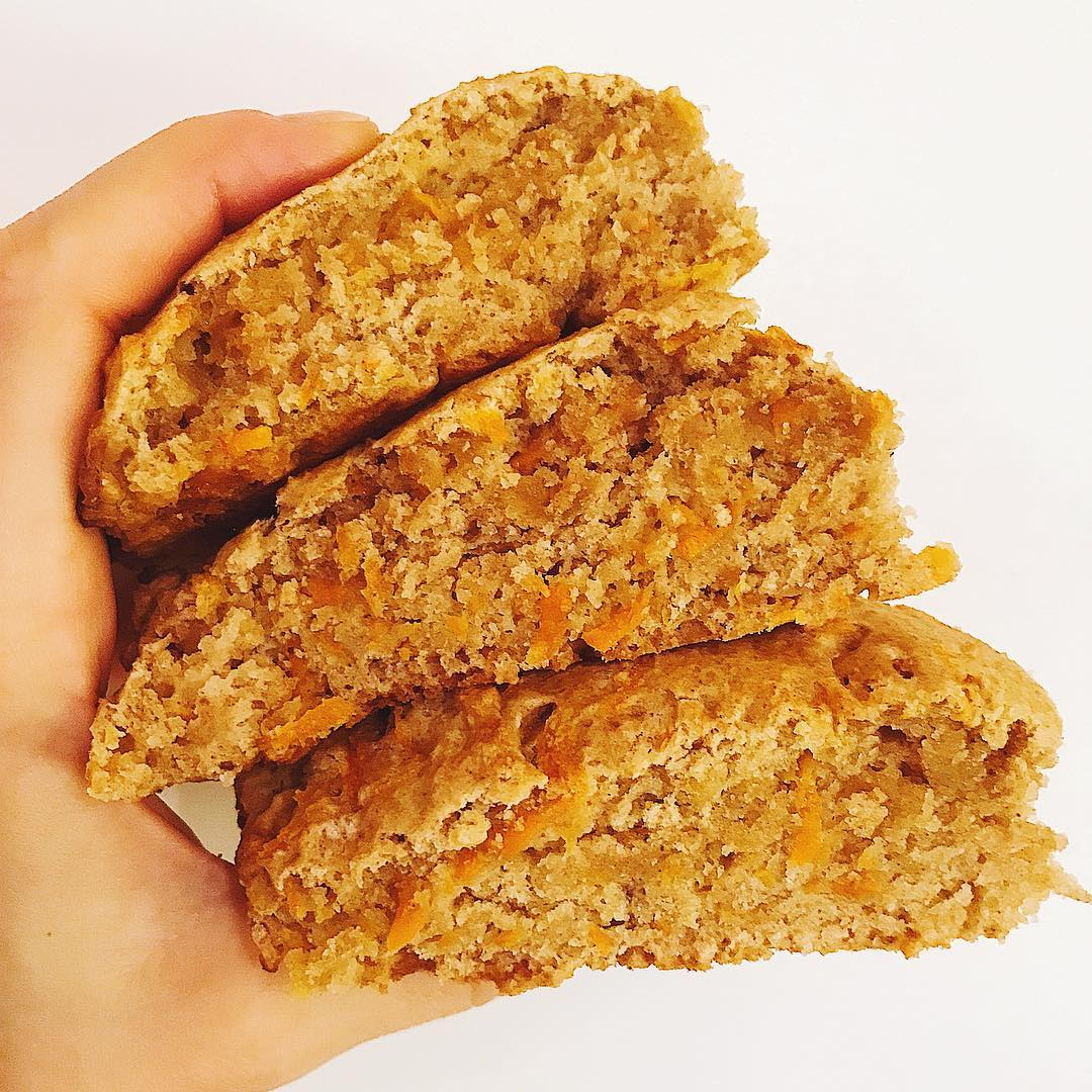 healthy carrot cake scones by @passion_for_fruit