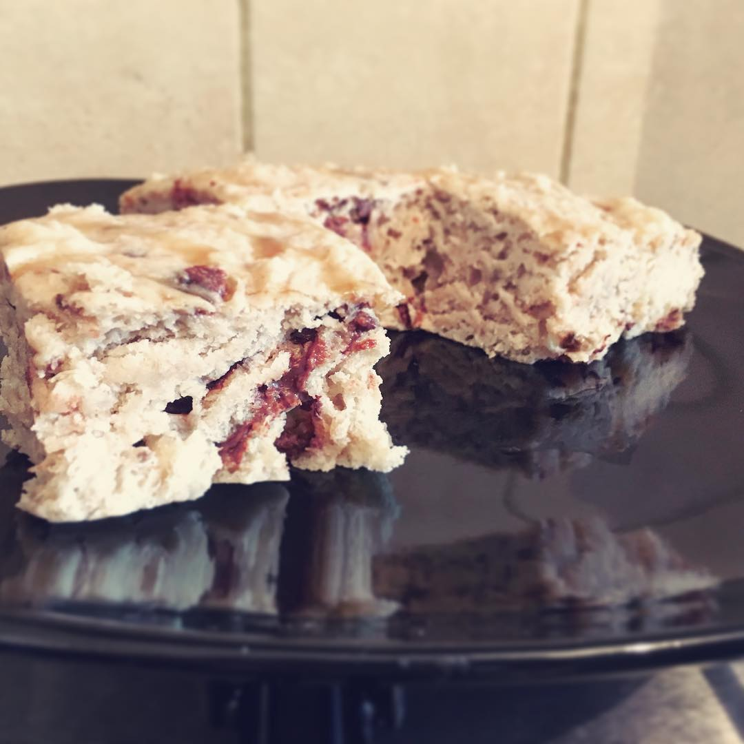 chocolate chip banana bread brownies by @beaucoleman