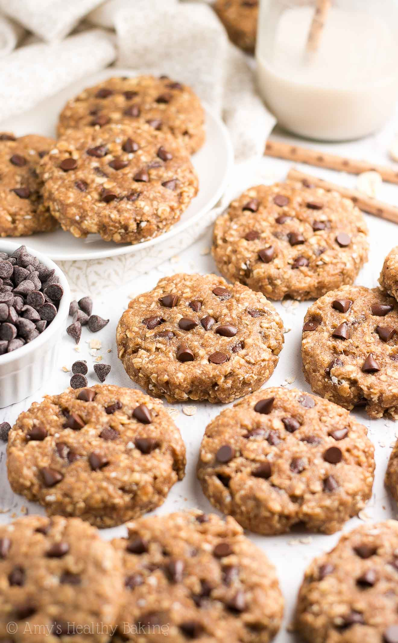 Chia Chocolate Chip Oatmeal Breakfast Cookies