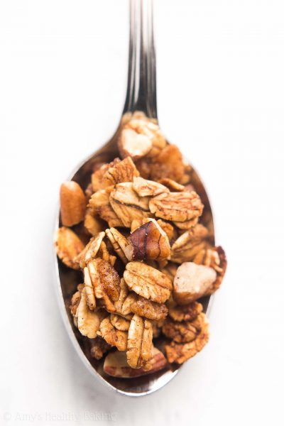 Healthy Maple Pecan Granola