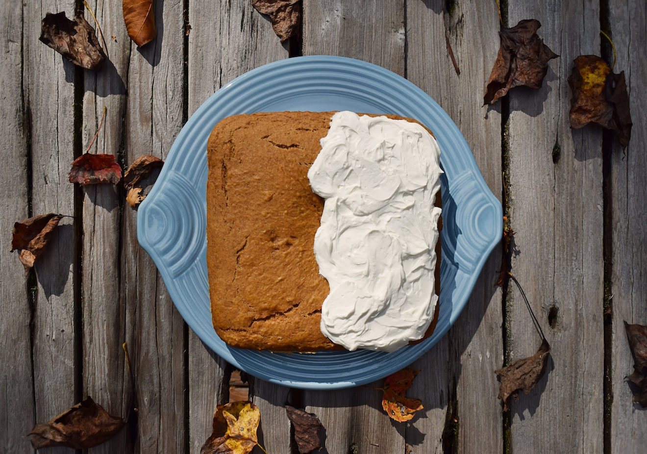 healthy pumpkin cake with cream cheese frosting by @summergrace