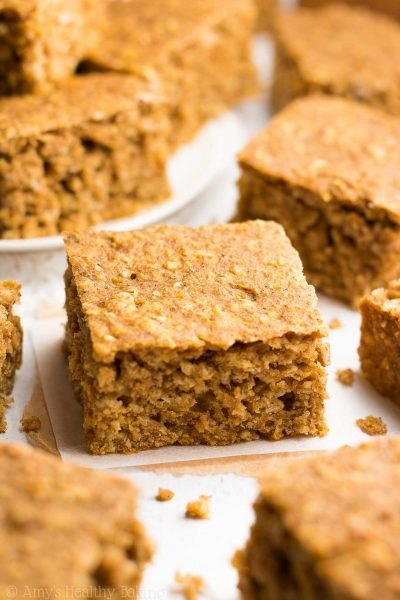 Healthy Pumpkin Oatmeal Snack Cake
