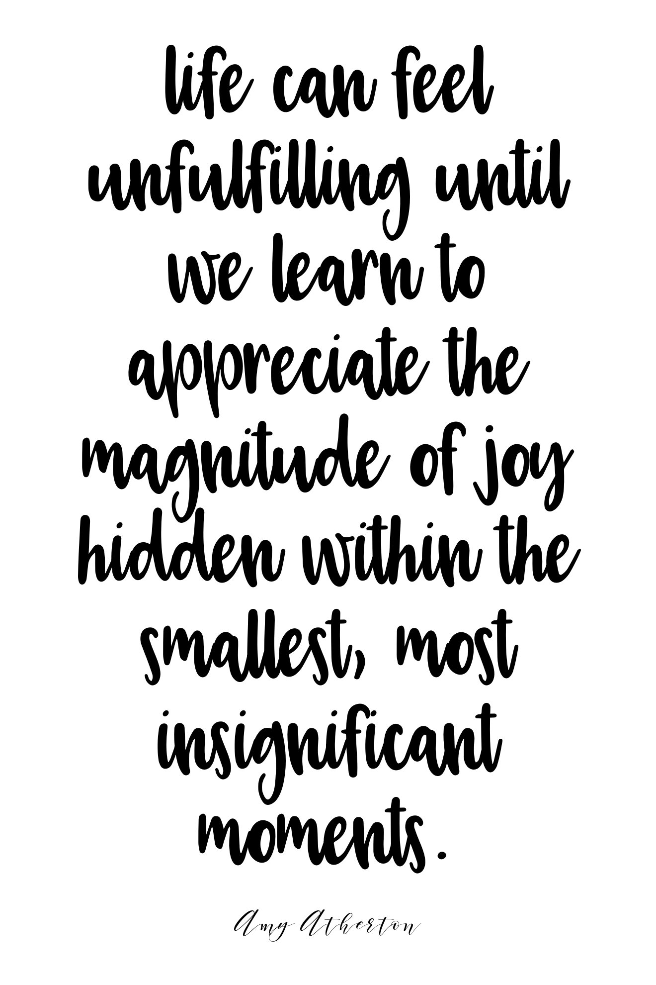Life can feel unfulfilling until we learn to appreciate the magnitude of joy hidden within the smallest, most insignificant moments. @amybakeshealthy