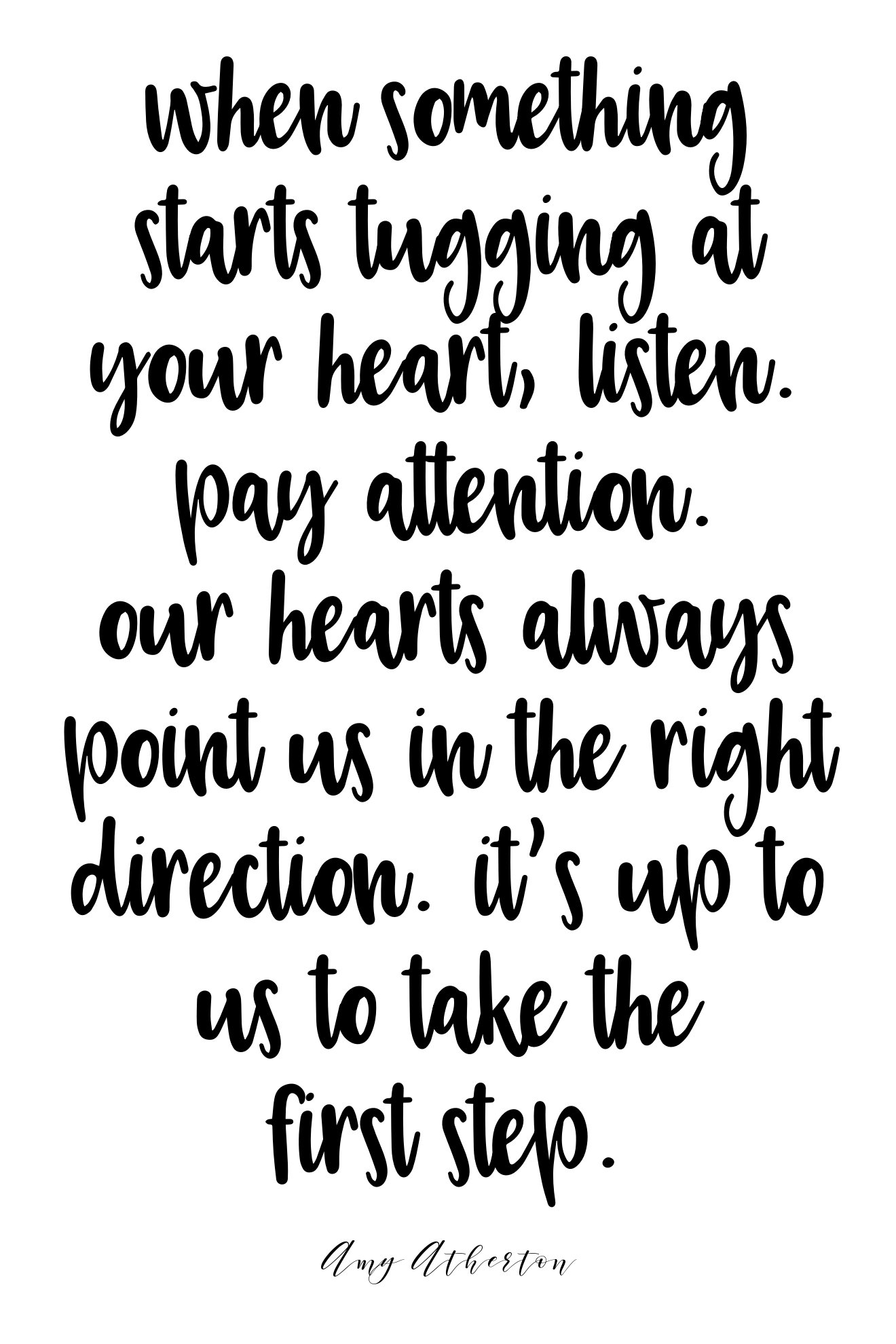 When something starts tugging at your heart, listen. Pay attention. Our hearts always point us in the right direction. It's up to us to take the first step. @amybakeshealthy