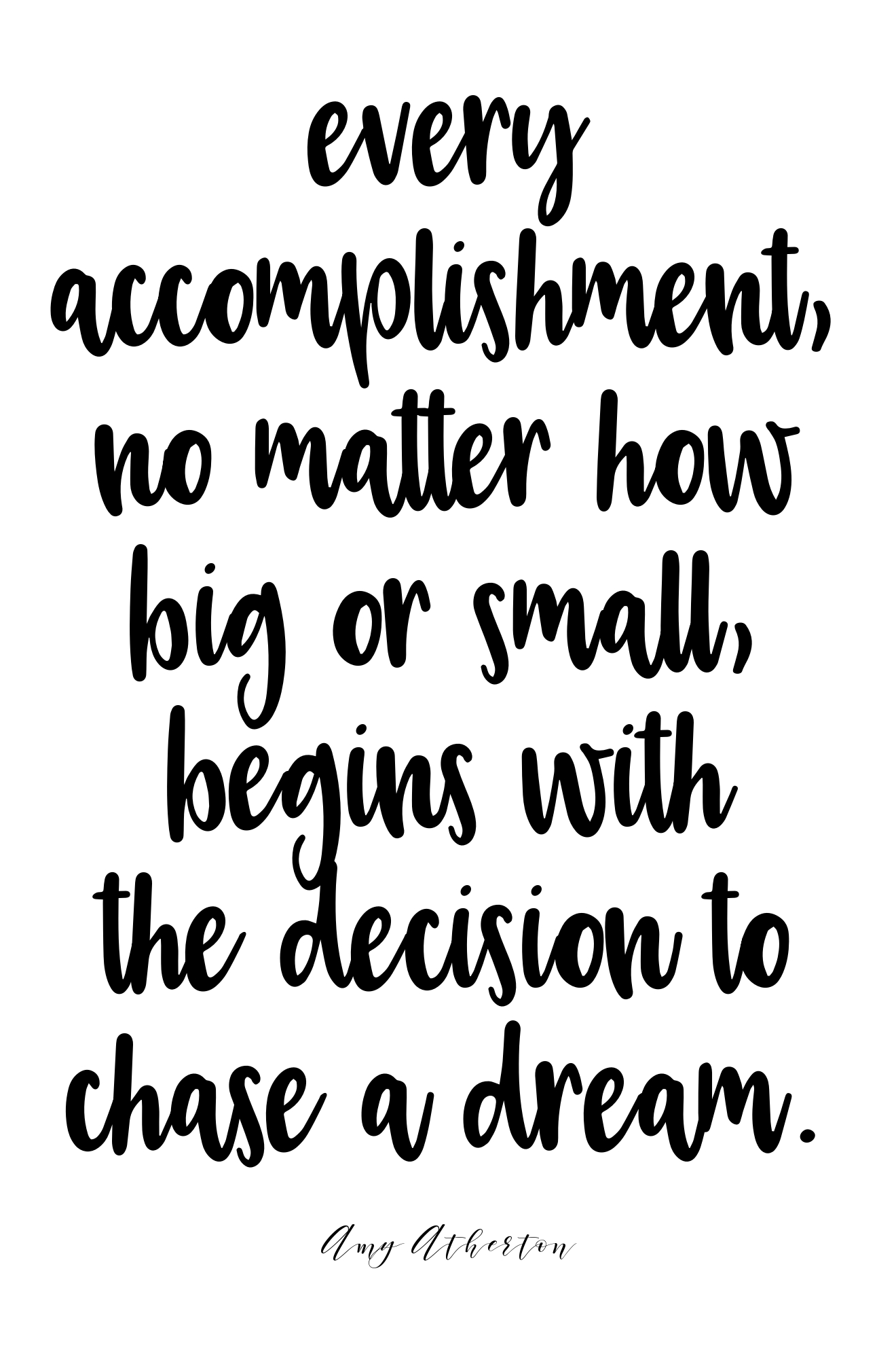 Every accomplishment, no matter how big or small, begins with the decision to chase a dream. @amybakeshealthy