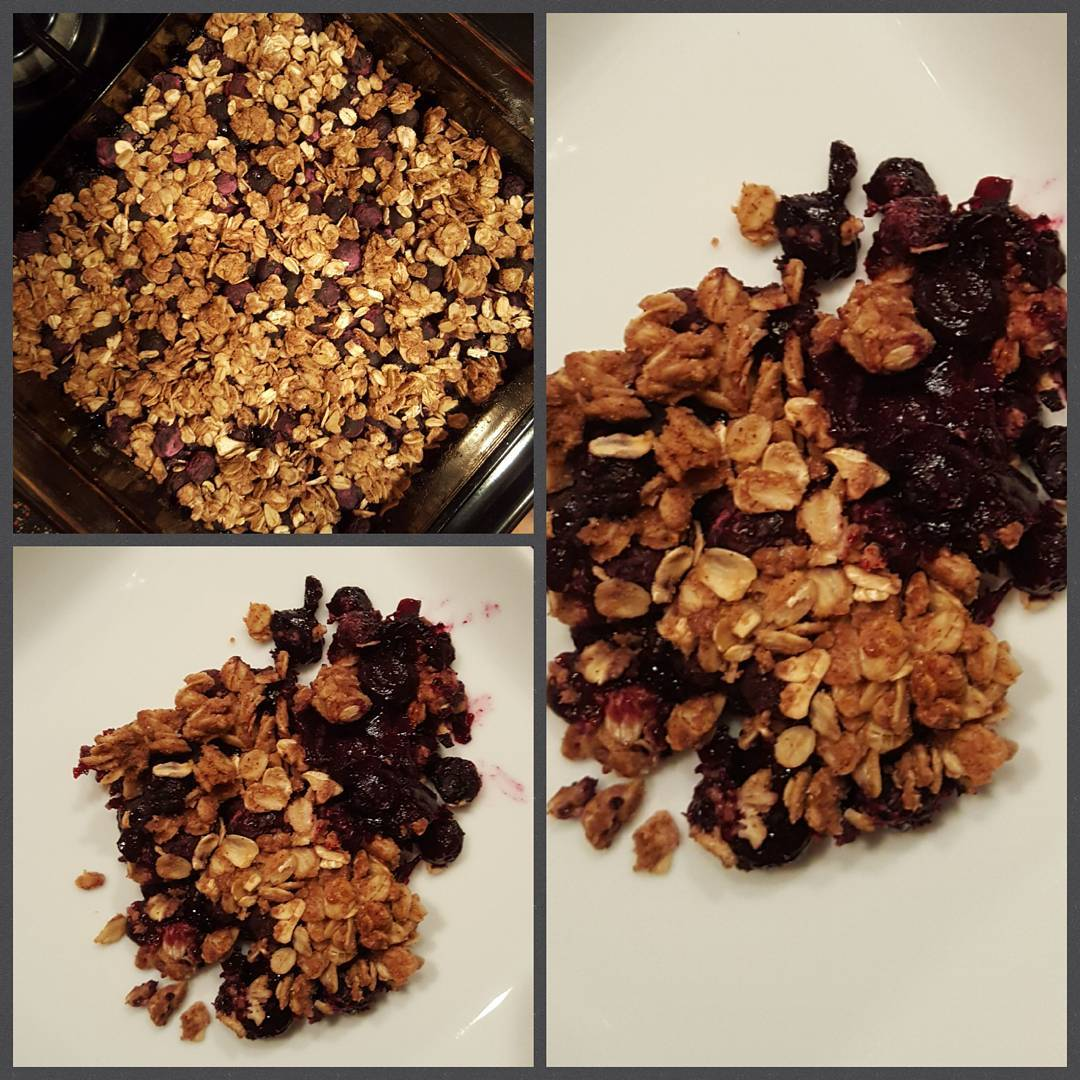 the ultimate healthy blueberry crumble by @fatty_to_fit3217