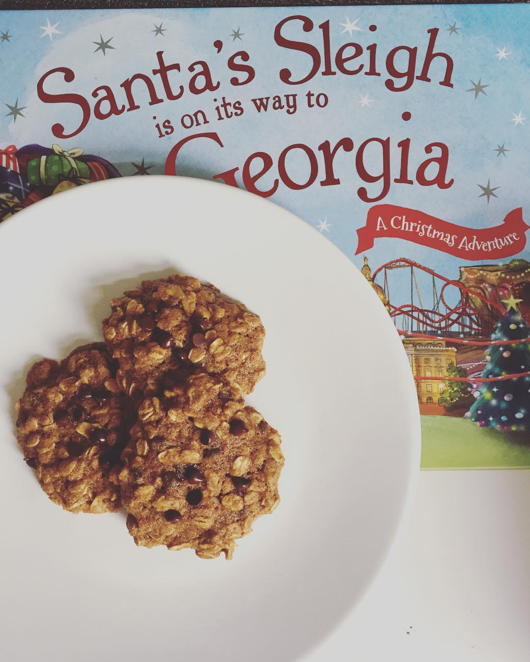 healthy chocolate chip gingerbread oatmeal cookies by @devinchristine