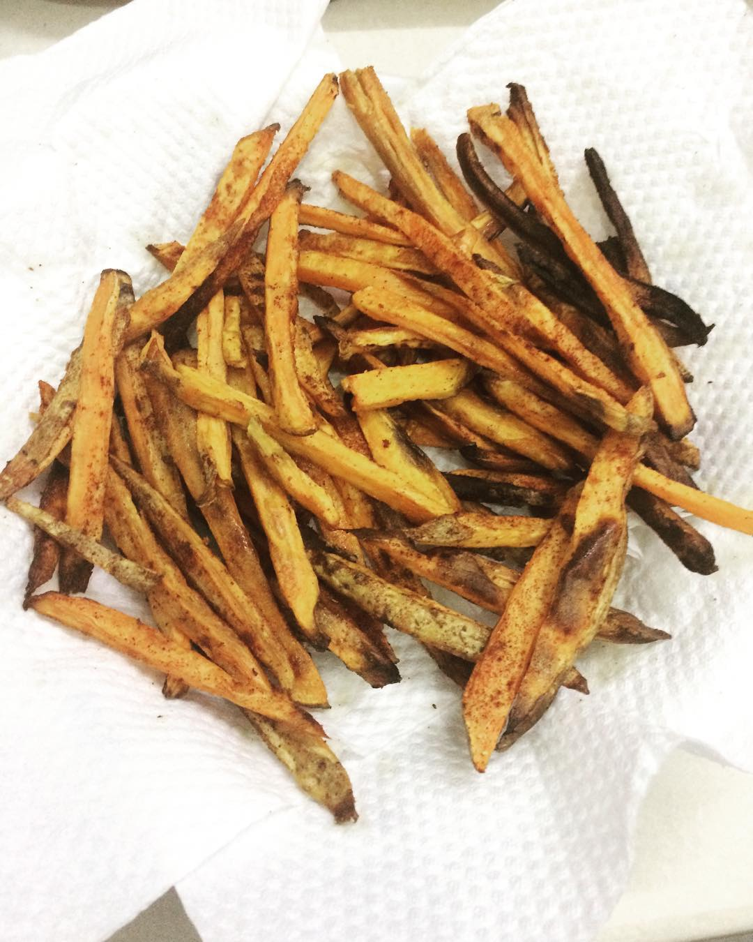 baked spicy cinnamon sweet potato fries {one of my favorites!} by @fadilah.ansari