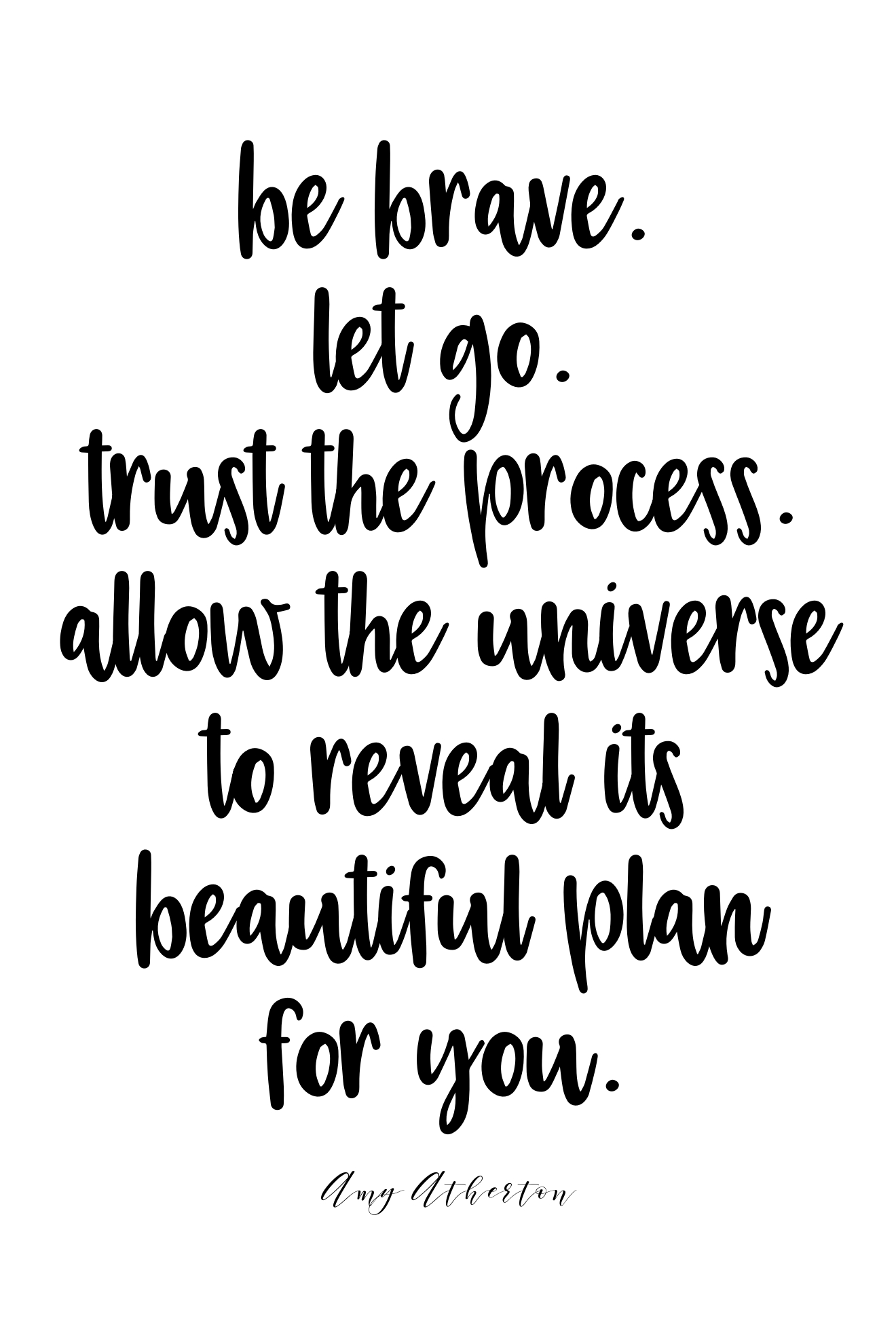 Be brave. Let go. Trust the process. Allow the universe to reveal its beautiful plan for you. @amybakeshealthy