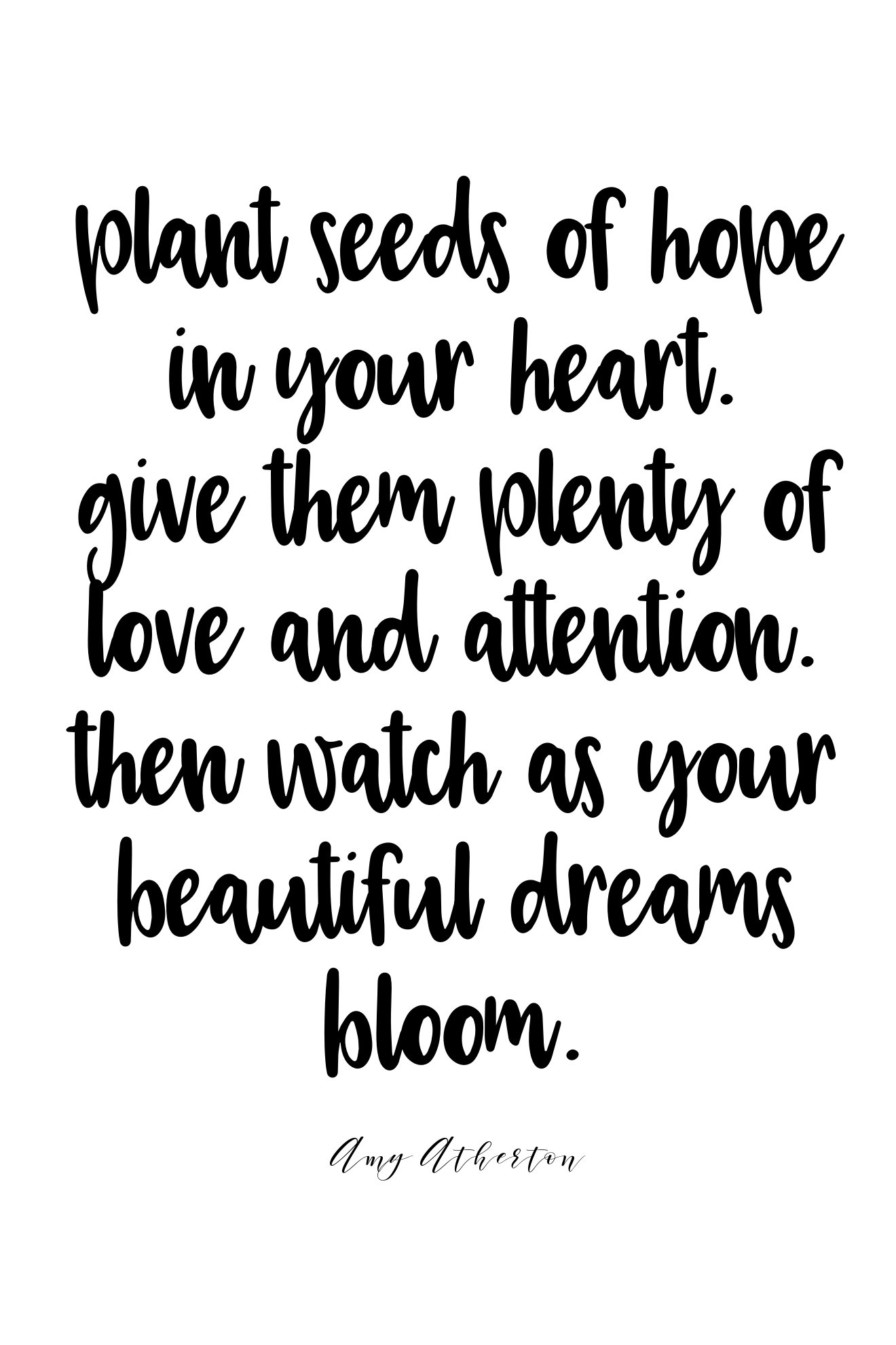 Plant seeds of hope in your heart. Give them plenty of love and attention. Then watch are your beautiful dreams bloom. @amybakeshealthy