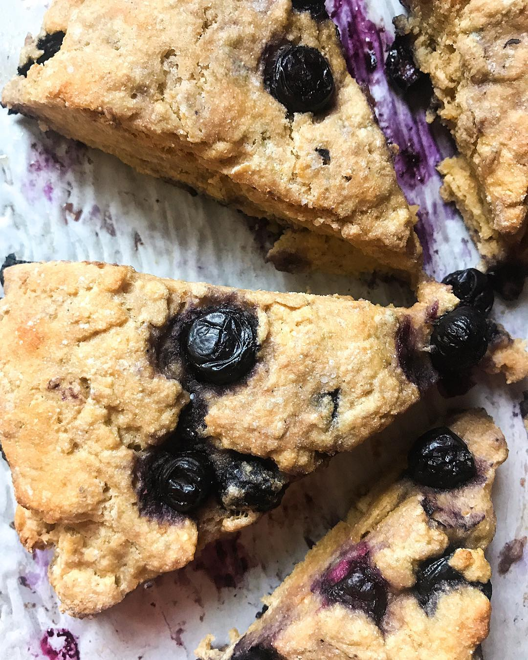 the ultimate healthy blueberry scones by @bitsbitesblog