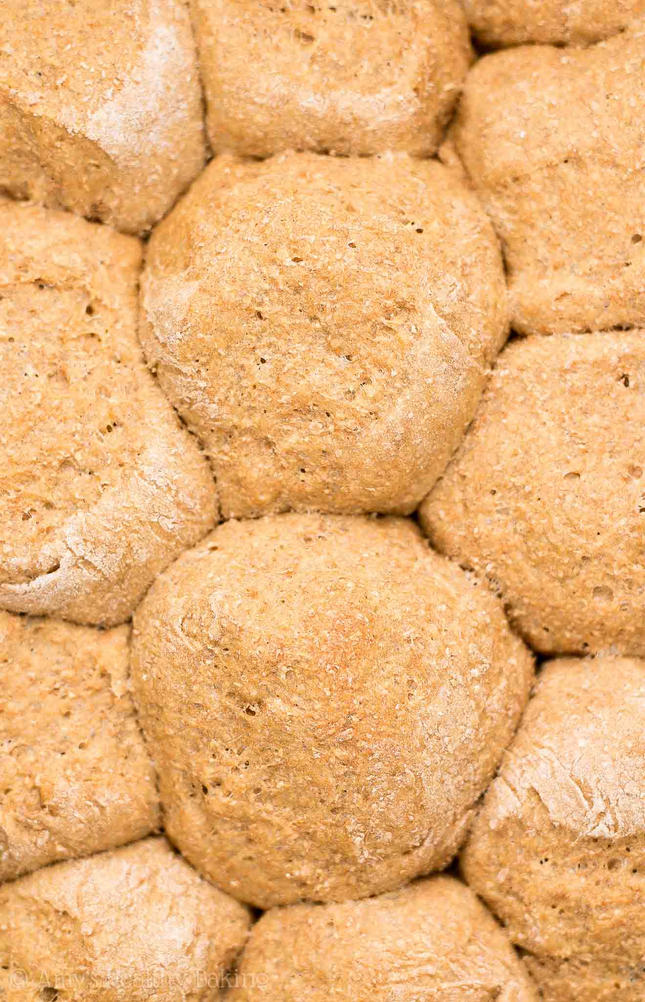 The ULTIMATE Healthy Whole Wheat Rolls -- only 56 calories! Tender, flavorful & absolutely AMAZING! You'll never need another recipe again! (Lots of step-by-step photos too. MUCH easier to make than I thought!) #healthy #recipe #cleaneating #vegan