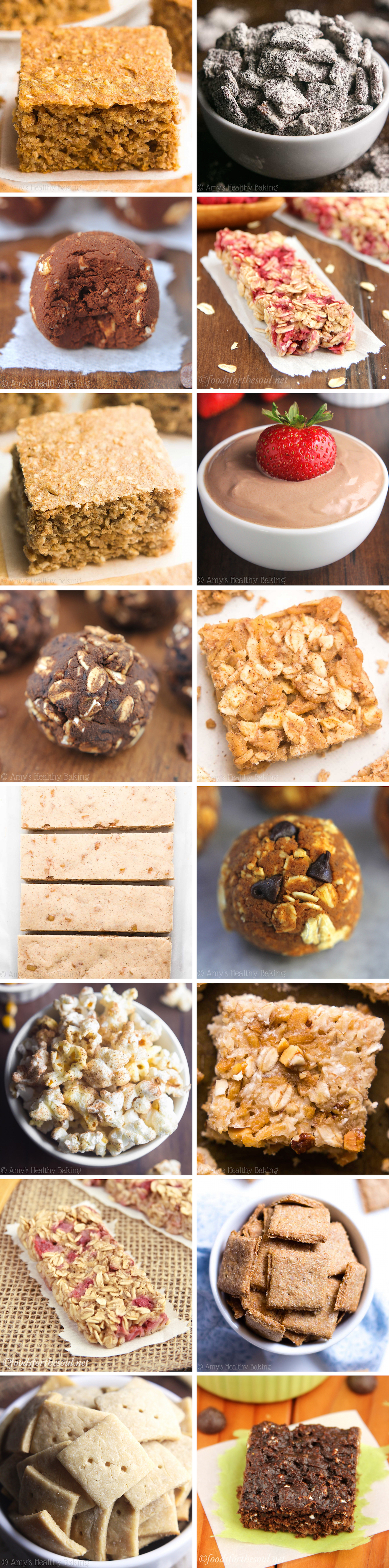 40 easy healthy snack recipes amys healthy baking 40 easy healthy snack recipes all made with no artificial ingredients refined forumfinder Images