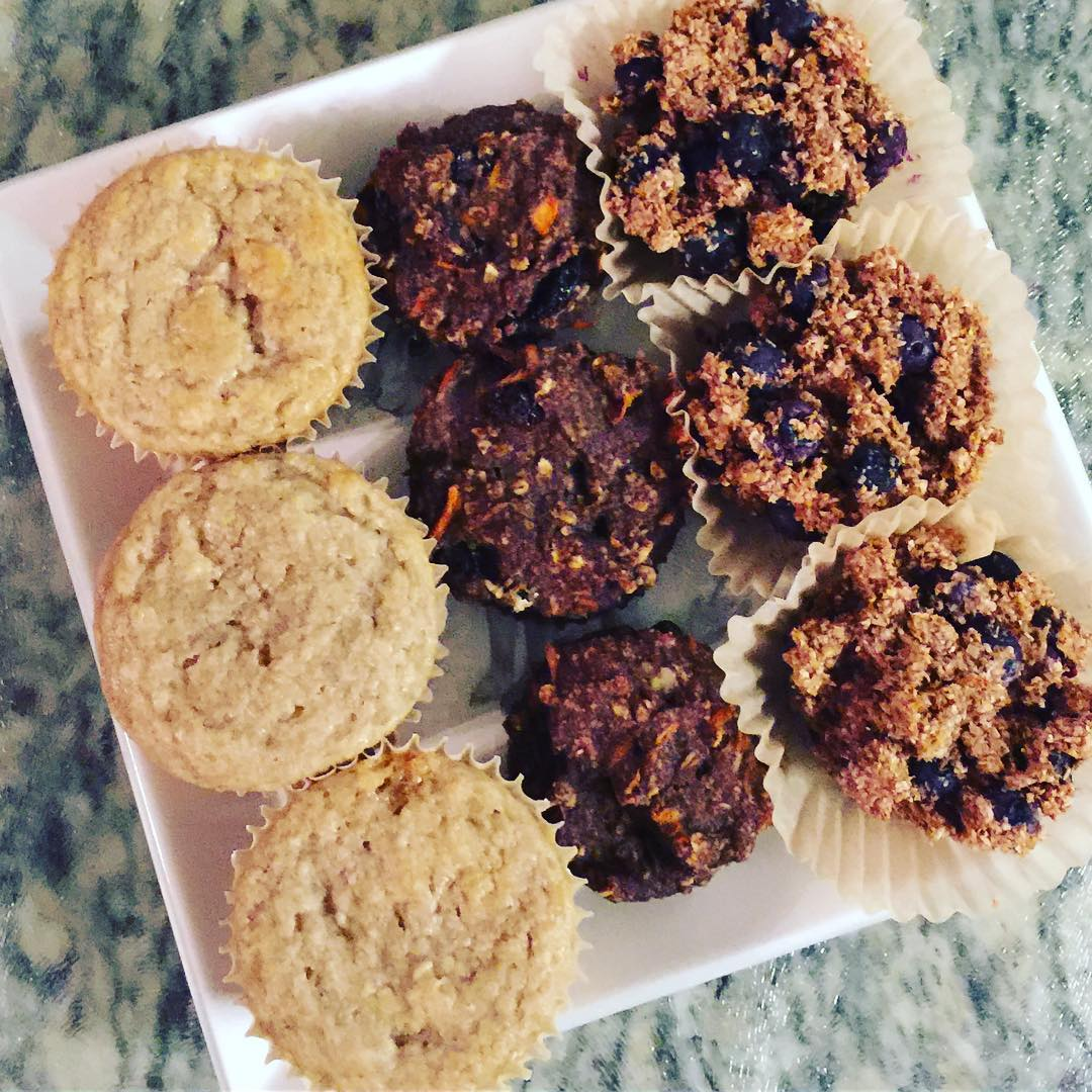 healthy blueberry banana bran muffins by @lauras_healing_whistlerkitchen