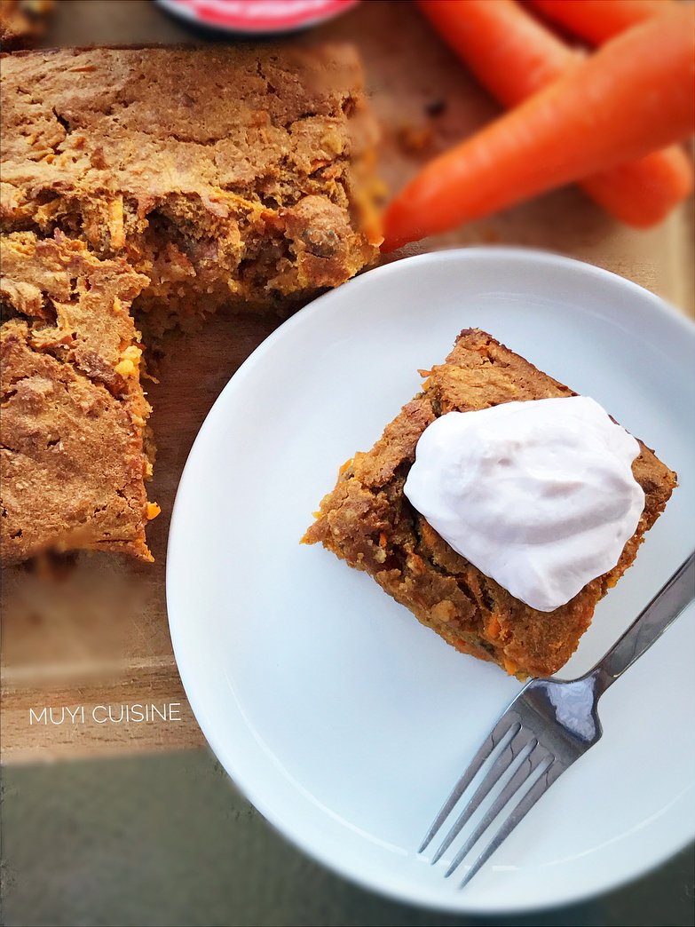 healthy classic carrot cake by @muyi_cuisine