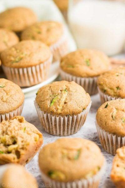 Healthy Eggnog Zucchini Mini Muffins