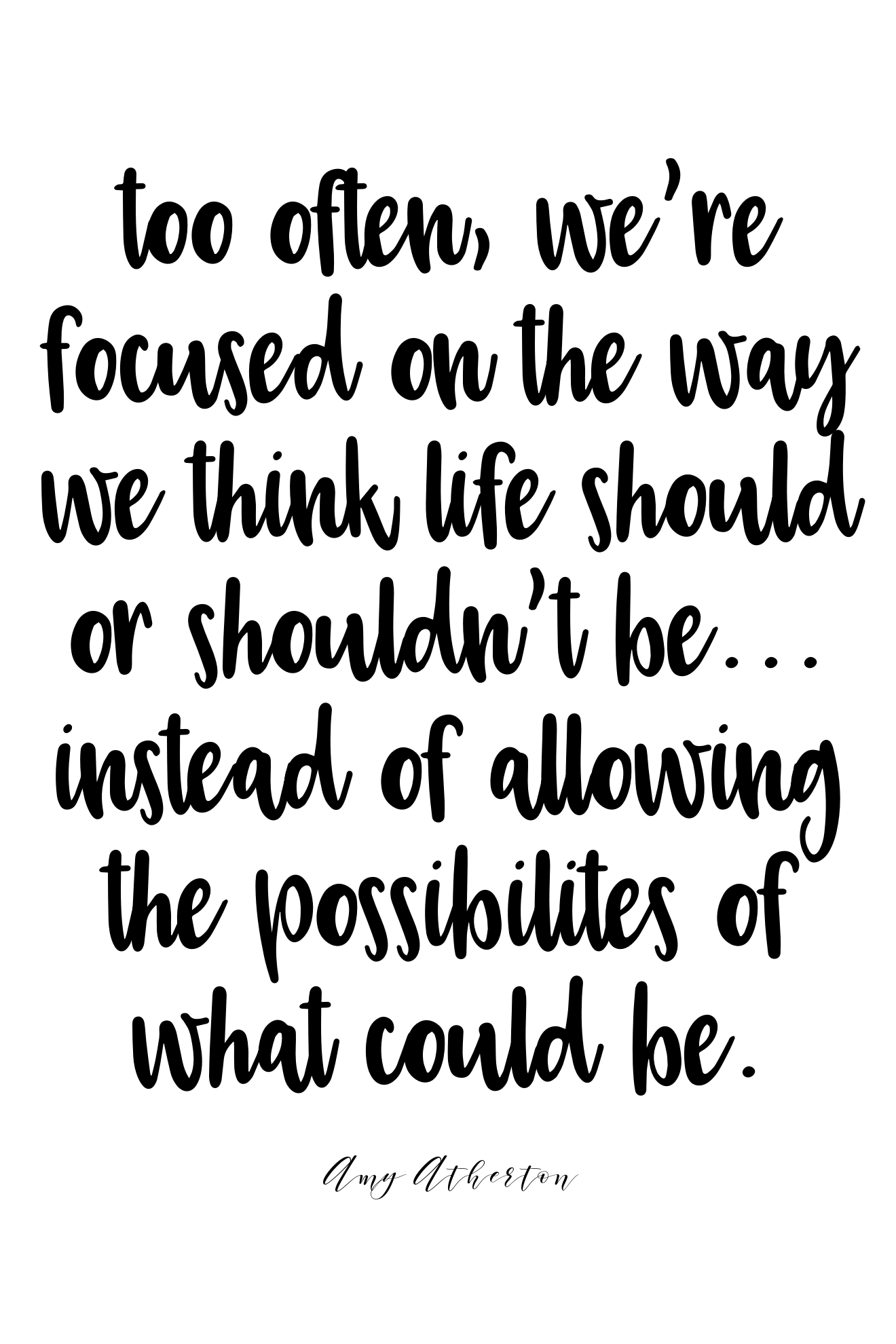 allow the possibilities of what could be. @amybakeshealthy