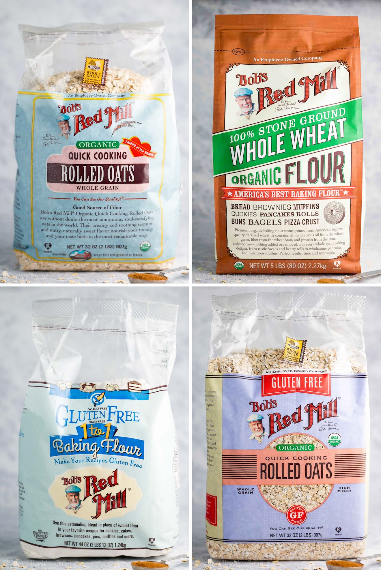 Bob's Red Mill sells tons of healthy, top-quality products! I keep their flour & oats in my pantry at all times! | @amybakeshealthy