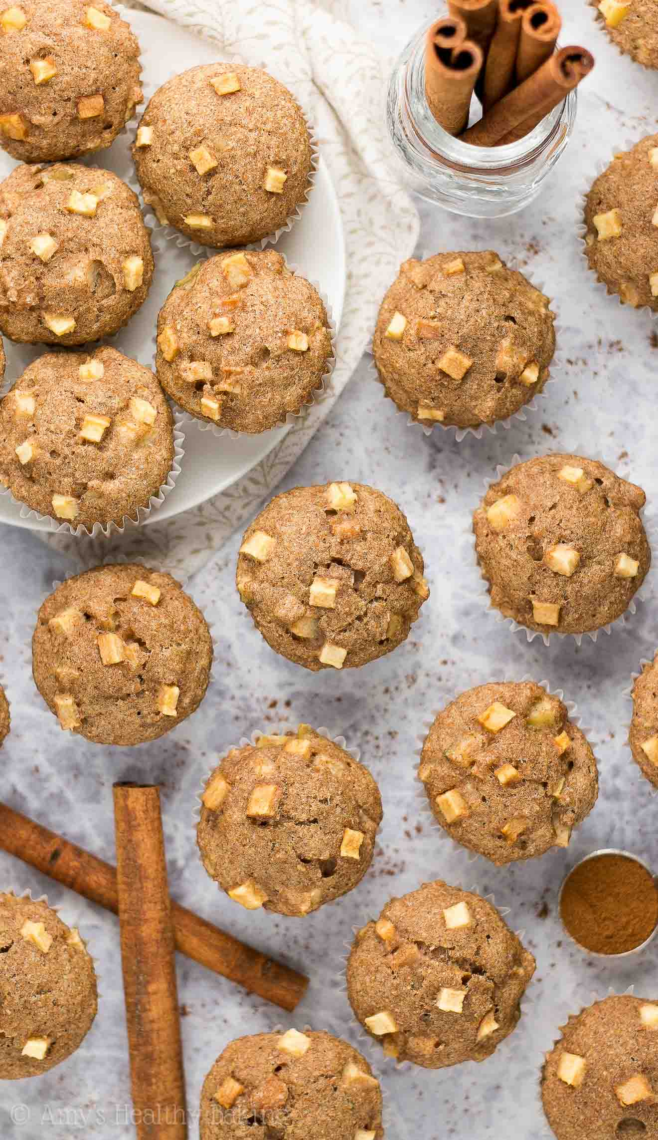 how to make apple and cinnamon muffins