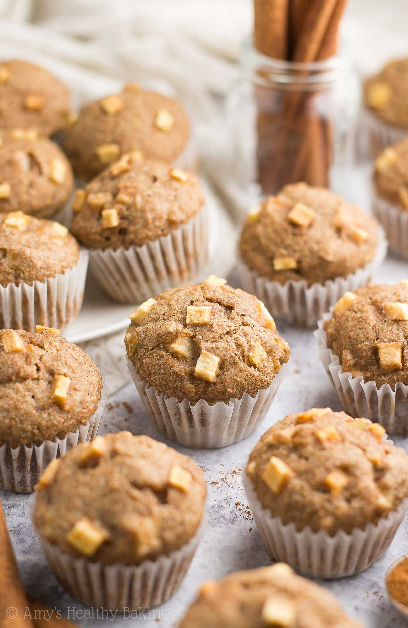 Healthy Cinnamon Apple Mini Muffins Amy S Healthy Baking