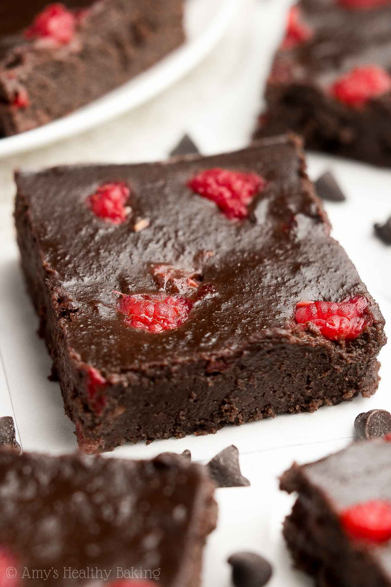 supremely fudgy small batch fudgy dark chocolate raspberry brownies