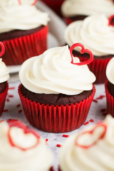 The Ultimate Healthy Red Velvet Cupcakes