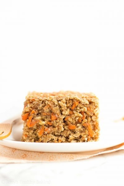 Healthy Carrot Cake Oatmeal Snack Cake
