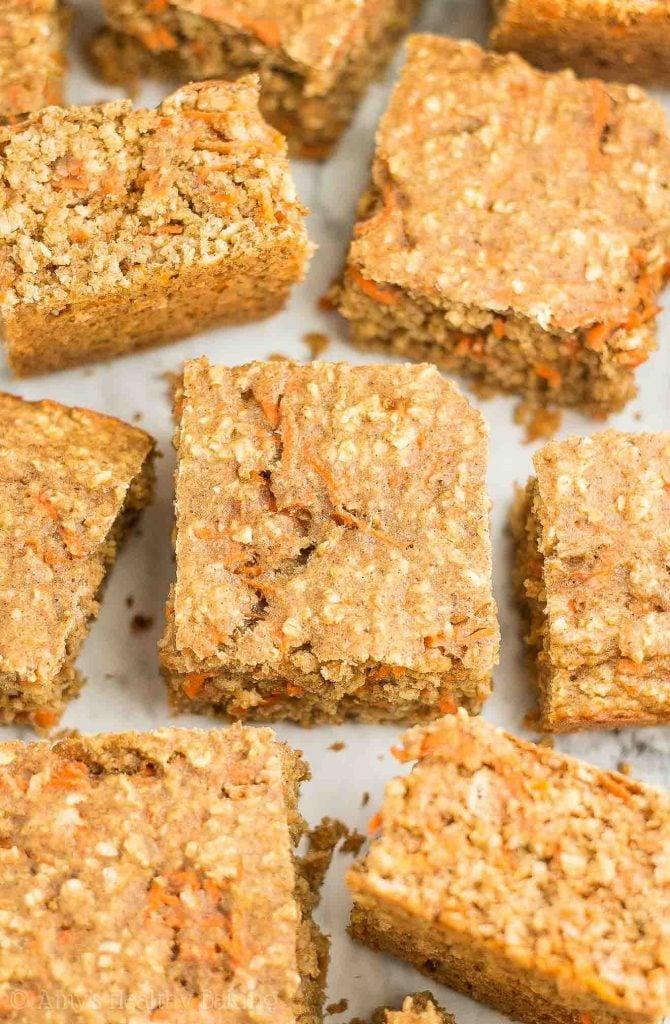 carrot cake oatmeal snack