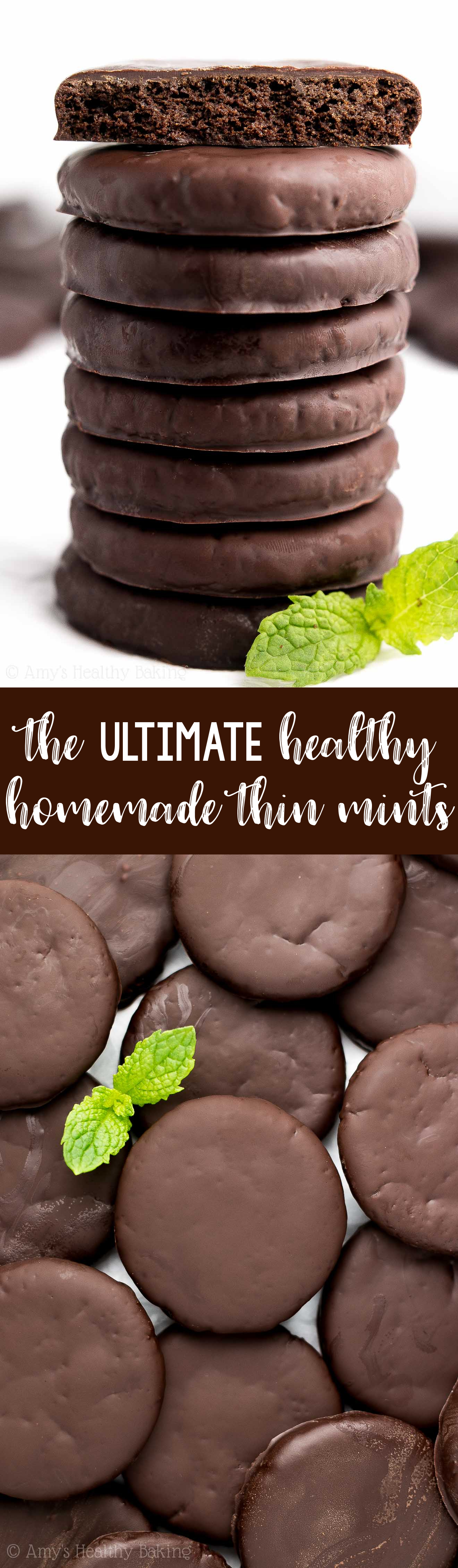 The ULTIMATE Healthy Homemade Thin Mint Cookies