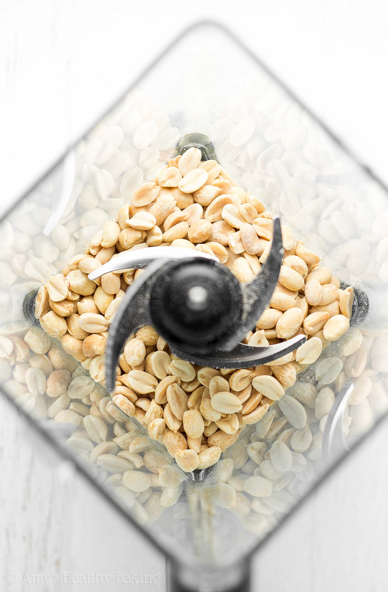 Blender with peanuts