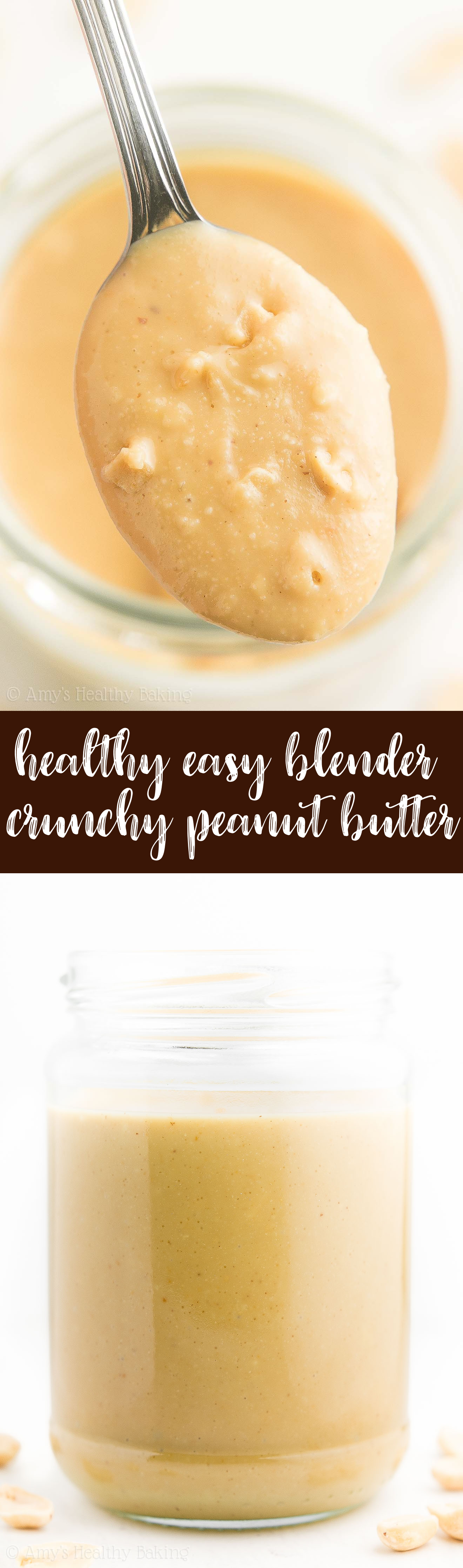 The Best Healthy Homemade Crunchy Peanut Butter!
