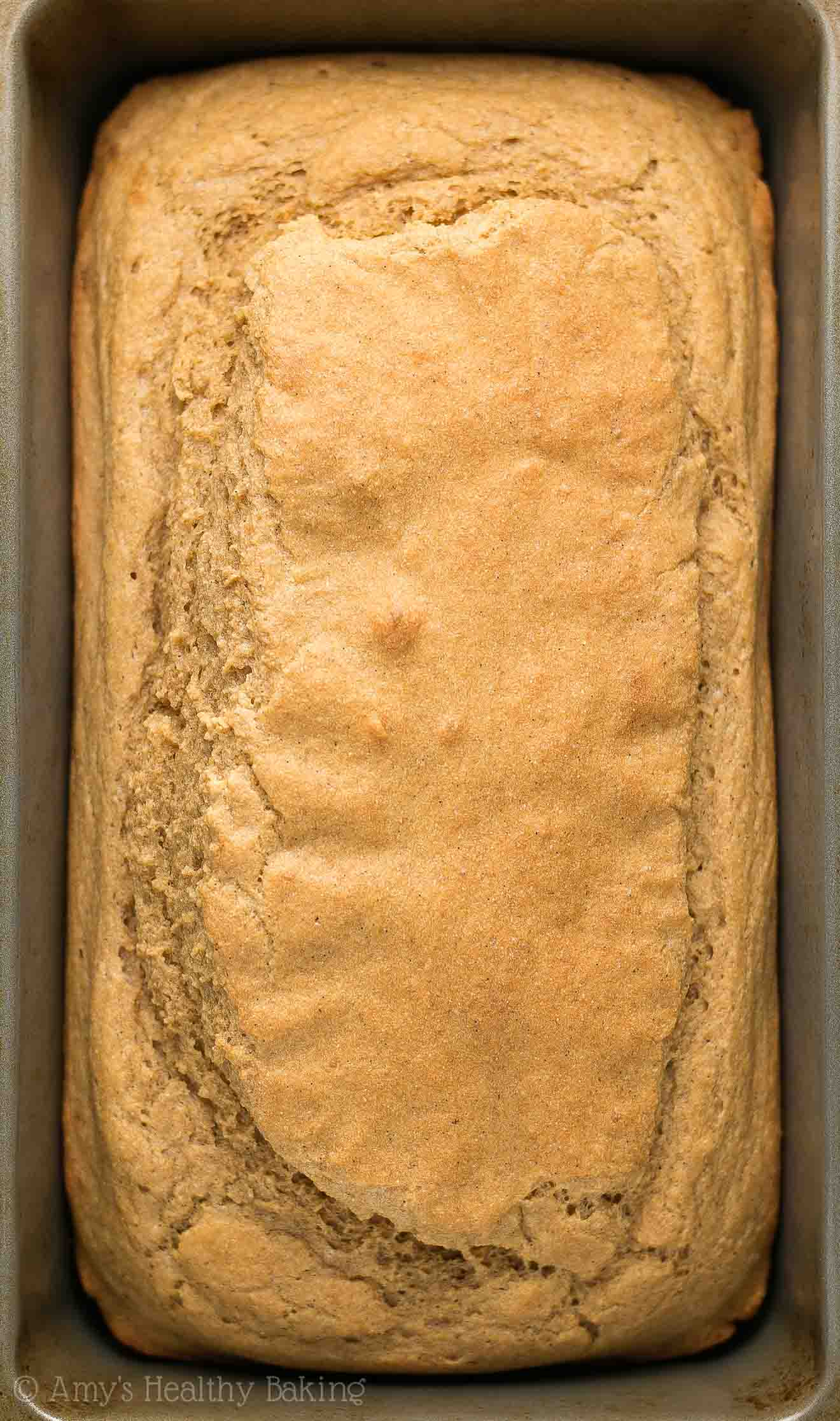 The ULTIMATE Healthy Vanilla Bean Pound Cake loaf