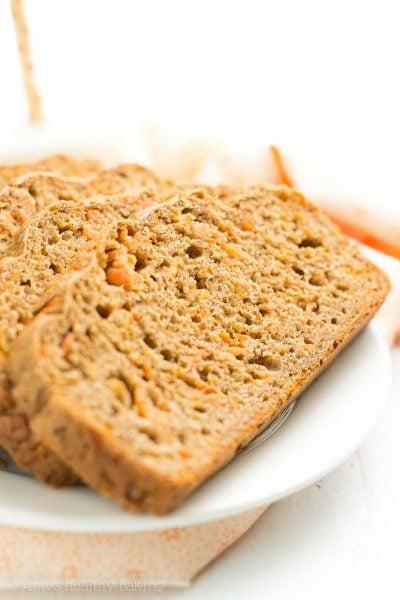 Healthy Carrot Cake Breakfast Quick Bread