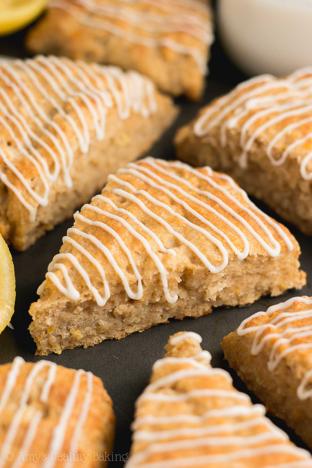 Weight Watchers Healthy Lemon Scones with Lemon Glaze