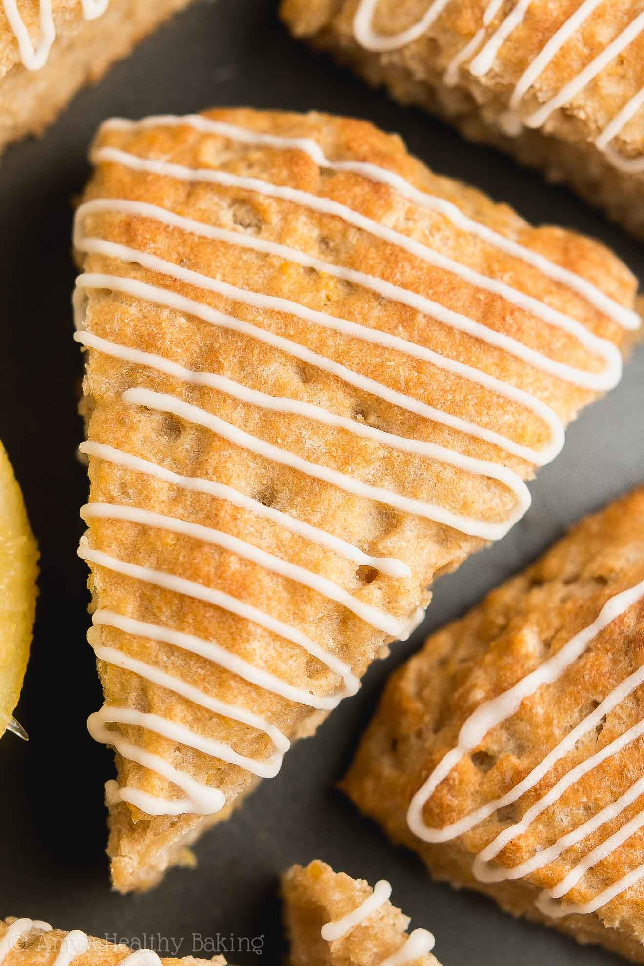 Gluten-Free Healthy Lemon Scones with Lemon Drizzle