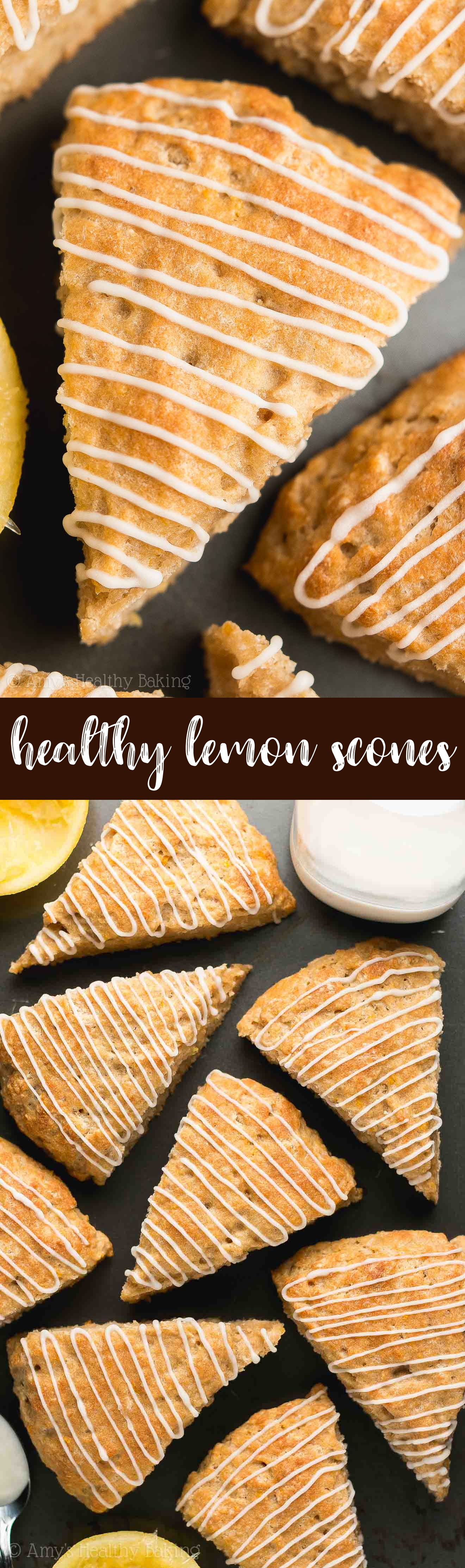 The Best Clean Eating Healthy Lemon Scones with Lemon Glaze