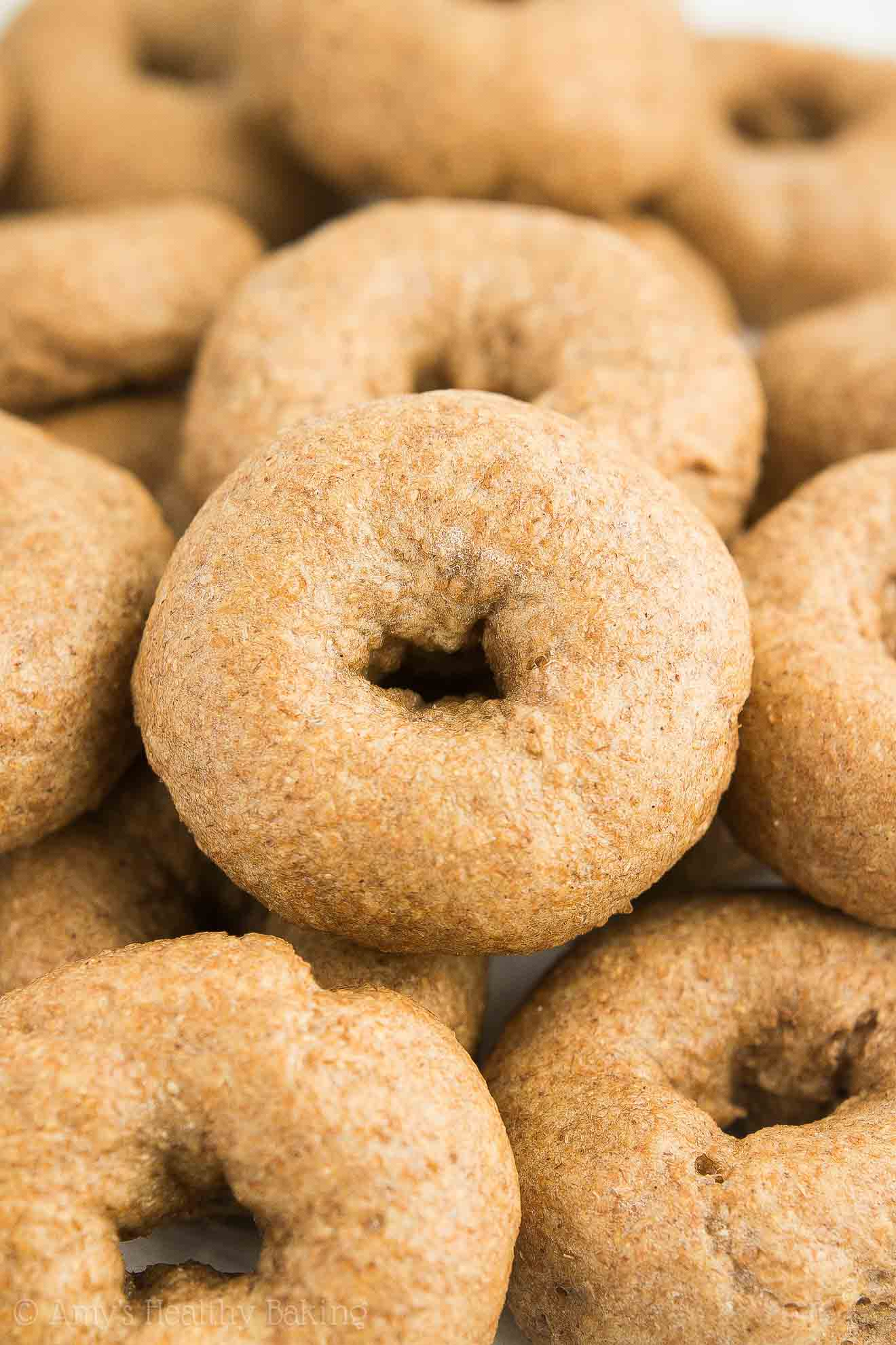 Healthy Homemade Whole Wheat Mini Bagels