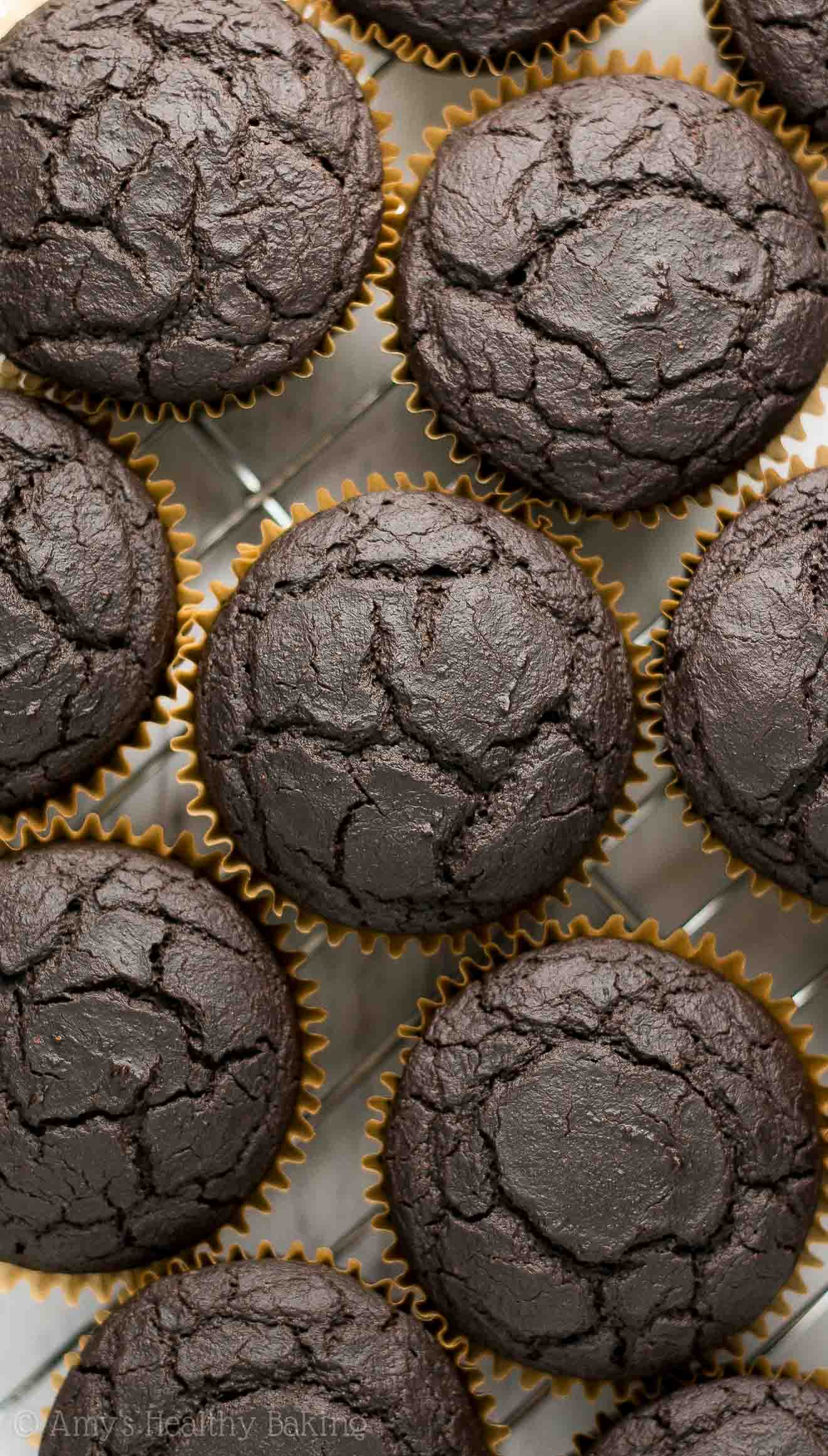 Freshly Baked Homemade Sugar-Free Mint Chocolate Cupcakes
