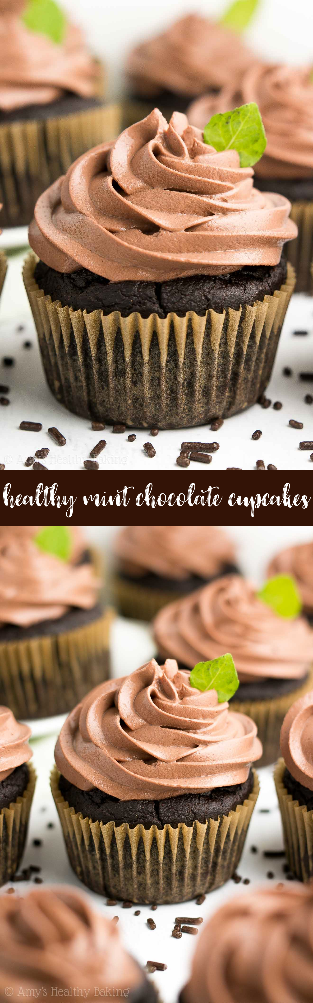 The Best Healthy Mint Chocolate Cupcakes