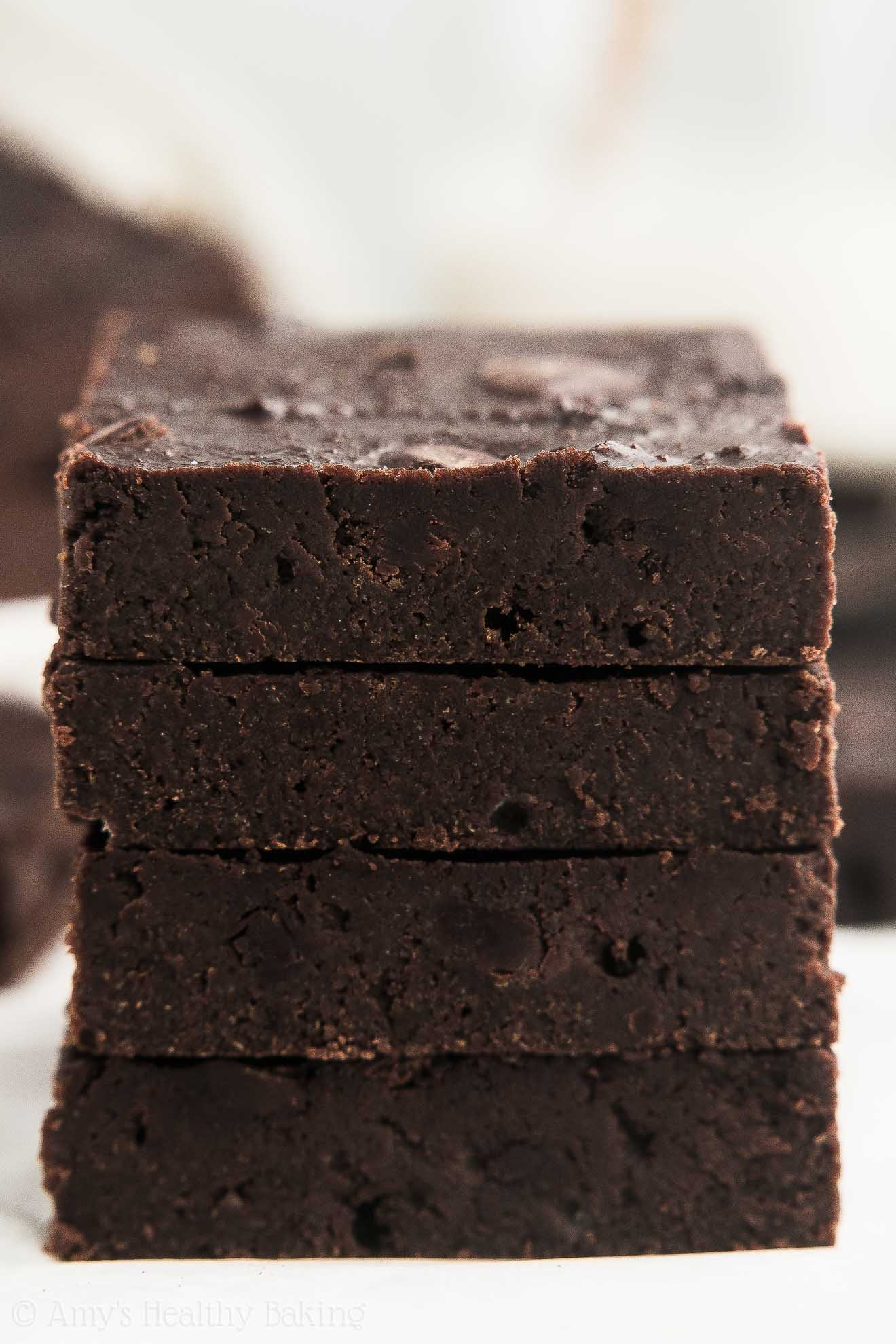 Easy Healthy One-Bowl Chocolate Chunk Brownies that have Weight Watchers Points